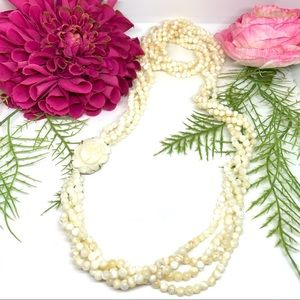 VINTAGE⚜️Genuine Mother Of Pearl Beaded Necklace